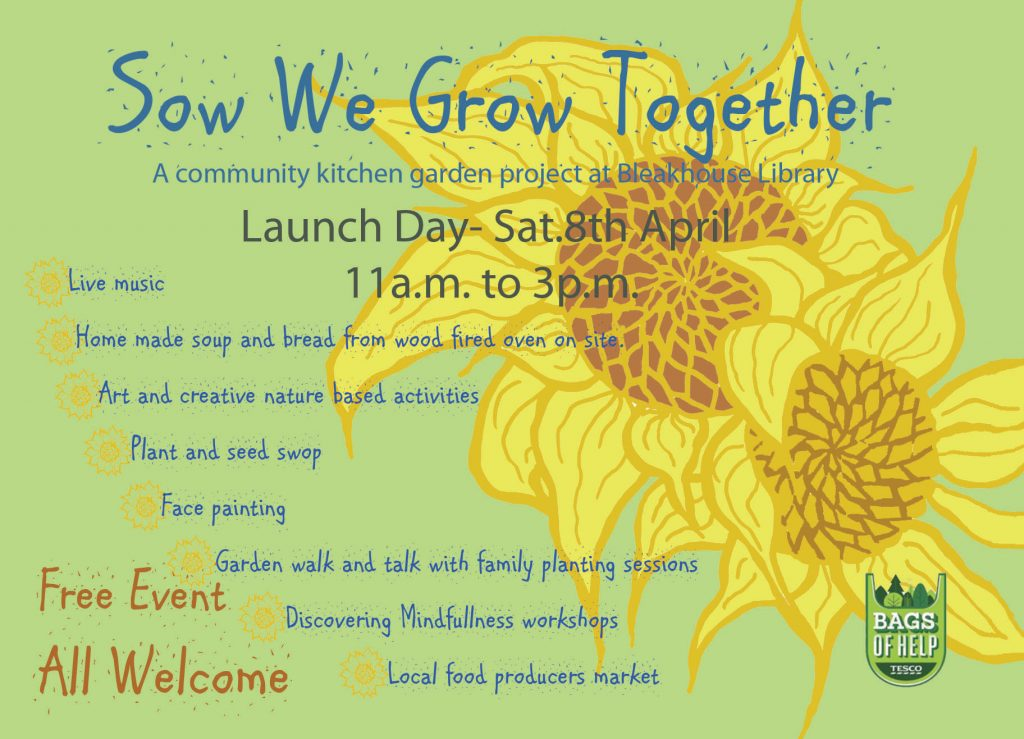 Sow We Grow Together Launch Event 8th April 11- 3pm